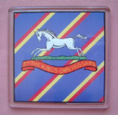 3rd KING'S OWN HUSSARS LARGE ACRYLIC COASTER